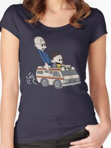 Breaking Bad Calvin And Hobbes Women's Fitted Scoop T-Shirt