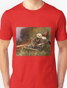 John Singer Sargent - An Out-Of-Doors Study 1889. Man portrait: strong man, boy, male, beard, business suite, masculine, boyfriend, smile, manly, sexy men, mustache Unisex T-Shirt