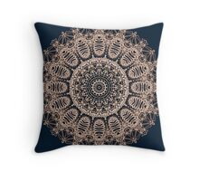Mandala Mehndi Style Throw Pillow
