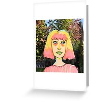 primary pastels Greeting Card