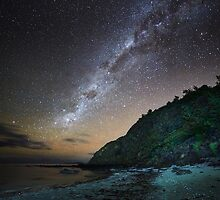 Park Beach under the Stars, Tasmania #2 by Chris Cobern