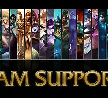 League of Legends - ''I am support'' T-Shirt/Hoodie by mir4aka