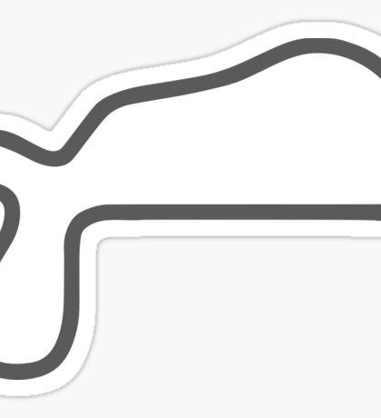 Willow Springs International Raceway track map sticker Sticker