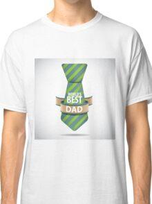 World's Best Dad necktie design. Classic T-Shirt