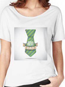 World's Best Dad necktie design. Women's Relaxed Fit T-Shirt