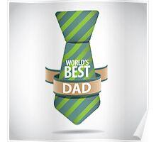 World's Best Dad necktie design. Poster