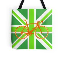Bike Flag United Kingdom (Green) (Big - Highlight) Tote Bag