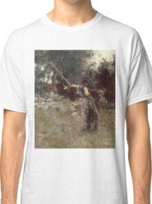 John Singer Sargent - A Capriote 1878. Woman portrait: sensual woman, girly art, female style, pretty women, femine, beautiful dress, cute, creativity, love, sexy lady, erotic pose Classic T-Shirt