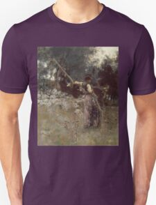 John Singer Sargent - A Capriote 1878. Woman portrait: sensual woman, girly art, female style, pretty women, femine, beautiful dress, cute, creativity, love, sexy lady, erotic pose Unisex T-Shirt