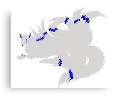 Electrified Kitsune Prince Simplistic Canvas Print