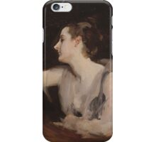 John Singer Sargent - Madame Gautreau Drinking A Toast. Woman portrait: sensual woman, girly art, female style, pretty women, femine, beautiful dress, cute, creativity, love, sexy lady iPhone Case/Skin