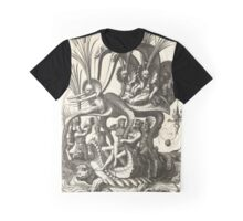 Water turtle carrying a wagon Graphic T-Shirt