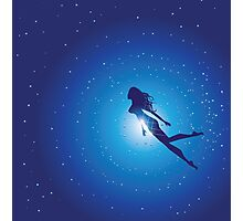 Swimming Woman silhouette Photographic Print