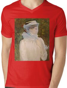 John Singer Sargent - Sally Fairchild. Woman portrait: sensual woman, girly art, female style, pretty women, femine, beautiful dress, cute, creativity, love, sexy lady Mens V-Neck T-Shirt