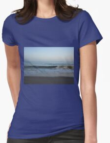 Waves on the Sand Womens Fitted T-Shirt
