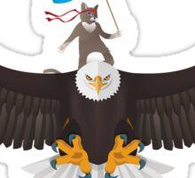 Ninja Cat Eagle 2 Sticker