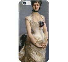 John Singer Sargent - Madame Paul Poirson. Woman portrait: sensual woman, girly art, female style, pretty women, femine, beautiful dress, cute, creativity, love, sexy lady, erotic pose iPhone Case/Skin