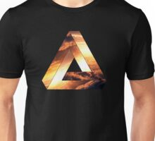 Abstract Geometry: Penrose Fire Storm (Burning Orange/Black) Unisex T-Shirt