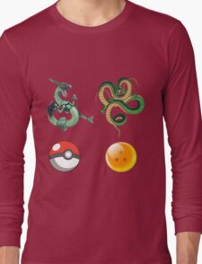Rayquaza    vs      shenron Long Sleeve T-Shirt