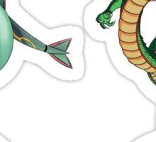Rayquaza    vs      shenron Sticker