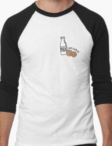 Milk and Cookies illustration Men's Baseball ¾ T-Shirt