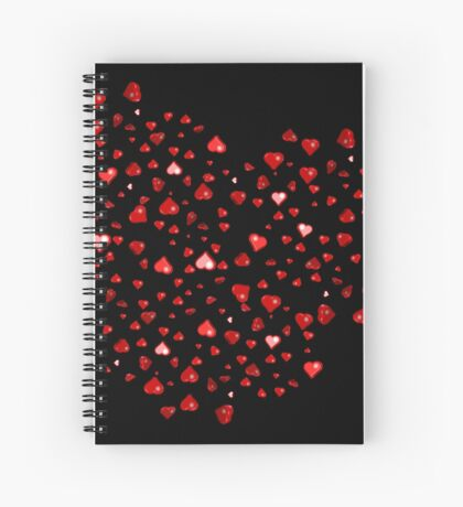 Love Hearts Spiral Notebook