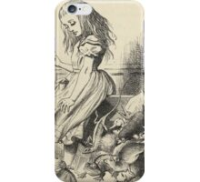 John Tenniel - Giant Alice Upsets The Jury Box, From  Alice S Adventures In Wonderland. Insects painting: cute bee, fly, bugs, lucky, pets, wild life, animal, butterfly, little small, insects, nature iPhone Case/Skin