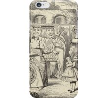 John Tenniel - Off With Her Head, From  Alice S Adventures In Wonderland. Girl portrait: cute girl, girly, female, pretty angel, child, beautiful dress, face with hairs, smile, little, kids, baby iPhone Case/Skin