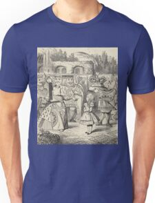 John Tenniel - Off With Her Head, From  Alice S Adventures In Wonderland. Girl portrait: cute girl, girly, female, pretty angel, child, beautiful dress, face with hairs, smile, little, kids, baby Unisex T-Shirt