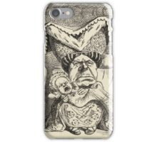 John Tenniel - The Duchess With Her Family, From  Alice S Adventures In Wonderland. Girl portrait: cute girl, girly, female, pretty angel, child, beautiful dress, smile, little, kids, baby iPhone Case/Skin
