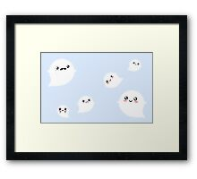 Tiny Ghost Clouds Framed Print