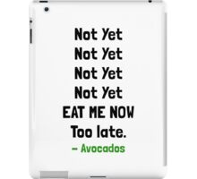 Eat Avocados iPad Case/Skin