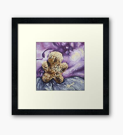 Furry Man (with nothing) Framed Print