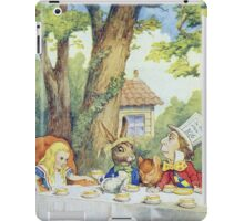 John Tenniel - Tea Party From  Alice S Adventures In Wonderland . Picnic painting: picnic time, holiday, people, family, travel, garden, outdoor meal, eating food, nautical panorama, picnic iPad Case/Skin