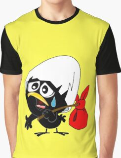 Sad black chicken Graphic T-Shirt