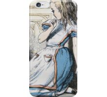 John Tenniel - The Pool Of Tears, Alice S Adventures In Wonderland. Girl portrait: cute girl, girly, female, pretty angel, child, beautiful dress, face with hairs, smile, little, kids, baby iPhone Case/Skin
