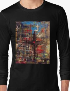 Hand painted Cross with Heart T-Shirt