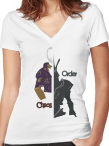 Chaos & Order Women's Fitted V-Neck T-Shirt