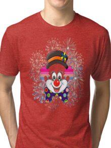 Clown.  fun and cute colorful clown, Fireworks Tri-blend T-Shirt