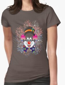 Clown.  fun and cute colorful clown, Fireworks Womens Fitted T-Shirt