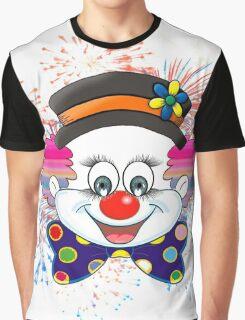 Clown.  fun and cute colorful clown, Fireworks Graphic T-Shirt