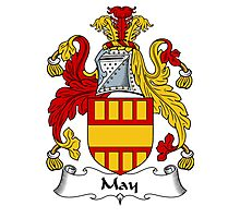 May Coat of Arms / May Family Crest Photographic Print