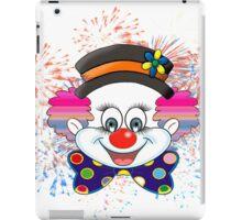 Clown.  fun and cute colorful clown, Fireworks iPad Case/Skin