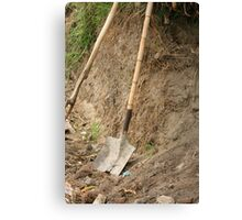 Shovel With Bamboo Handle Canvas Print