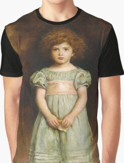 John Everett Millais - Ducklings 1889. Female child portrait: cute girl, girly, female, pretty angel, child, beautiful dress, face with hairs, smile, little, kids, baby Graphic T-Shirt