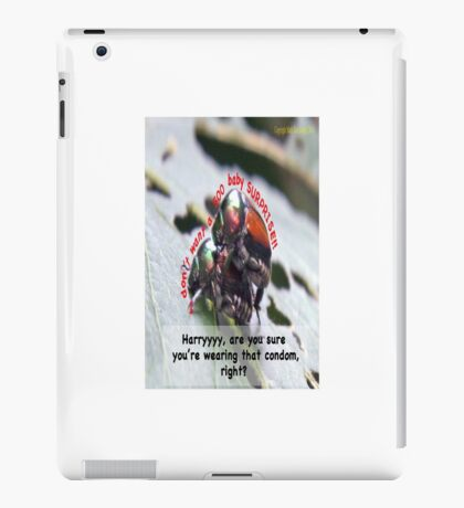 Ms. Bug doesn't want babies for a big surprise! iPad Case/Skin