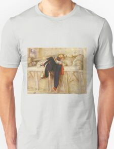 John Everett Millais - L Enfant Du Regiment 1854. Unisex T-Shirt