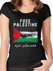 Vintage Free Palestine T shirts & Gifts Women's Fitted Scoop T-Shirt