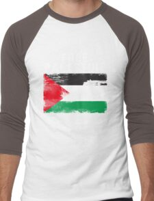 Vintage Free Palestine T shirts & Gifts Men's Baseball ¾ T-Shirt