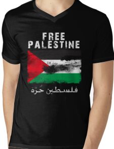 Vintage Free Palestine T shirts & Gifts Mens V-Neck T-Shirt
